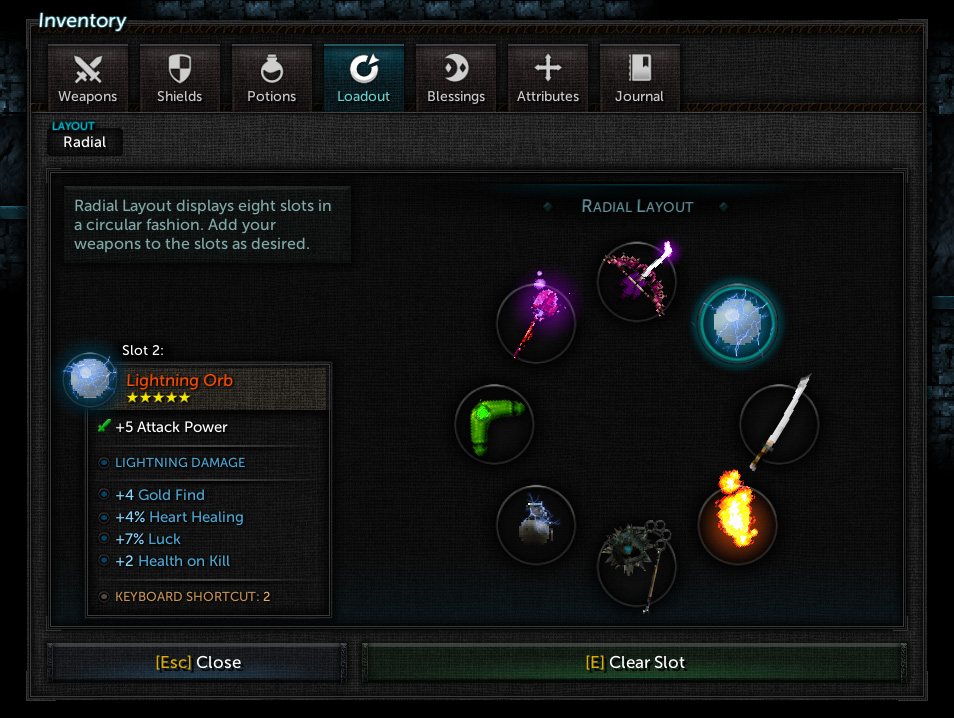 Tallowmere 2 – Inventory Loadout tab