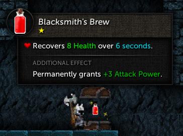 Health potion UI